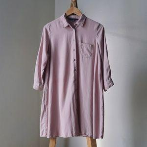 Sharagano Button Down Shirt Dress